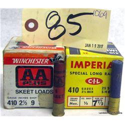 BOX LOT 410 GA AMMUNITION