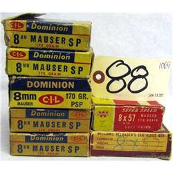 BOX LOT 8MM MAUSER AMMUNITION