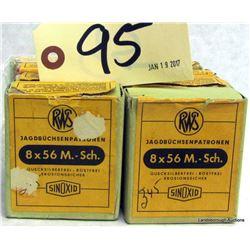 BOX LOT 8X56 M SCH AMMUNITION