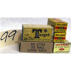 BOX LOT .22 AMMUNITION