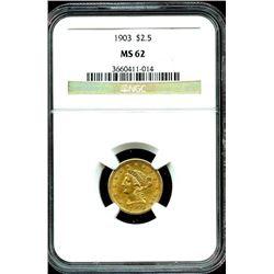 1903 MS 62 $ 2.5 Gold Liberty NGC