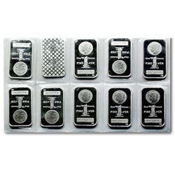 (10) Morgan Design 1 oz Silver Bars