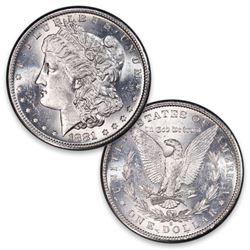 1881 s CH BU Morgan Silver Dollar