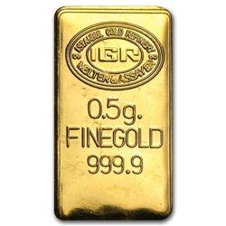 .5 gram Pure Gold Ingot -