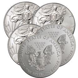 (5) US Silver Eagles- Random Dates