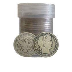 (20) Barber Half Dollar's In Roll