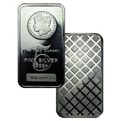 5 oz Silver Bar- Morgan Design