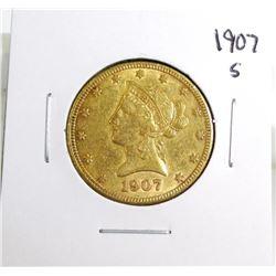 1907 S $ 10 Gold Liberty