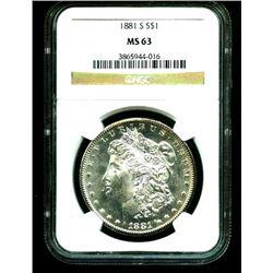 1881 s MS 63 NGC Slab Morgan Dollar