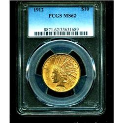 1912 $10 Gold Indian MS 62 PCGS Slab