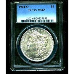 1904 o MS 63 PCGS Morgan Silver Dollar