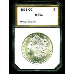 1878 Carson City KEY DATE MS 63 PCI