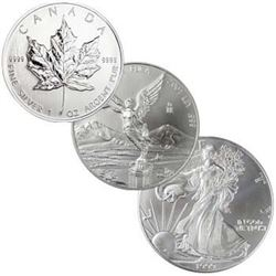 N. American Silver 1 oz Type  Bullion Lot