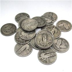 (20) Standing Liberty Quarters 90% Silver
