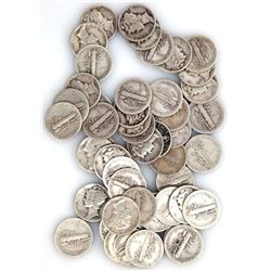 (50) Mercury Dimes - 90% Silver