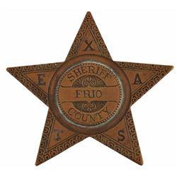Texas Ranger & Frio Co Sheriff Walter Durbin Badge