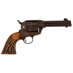 Colt SAA .38-40 with Stag Grips in Tooled Holster