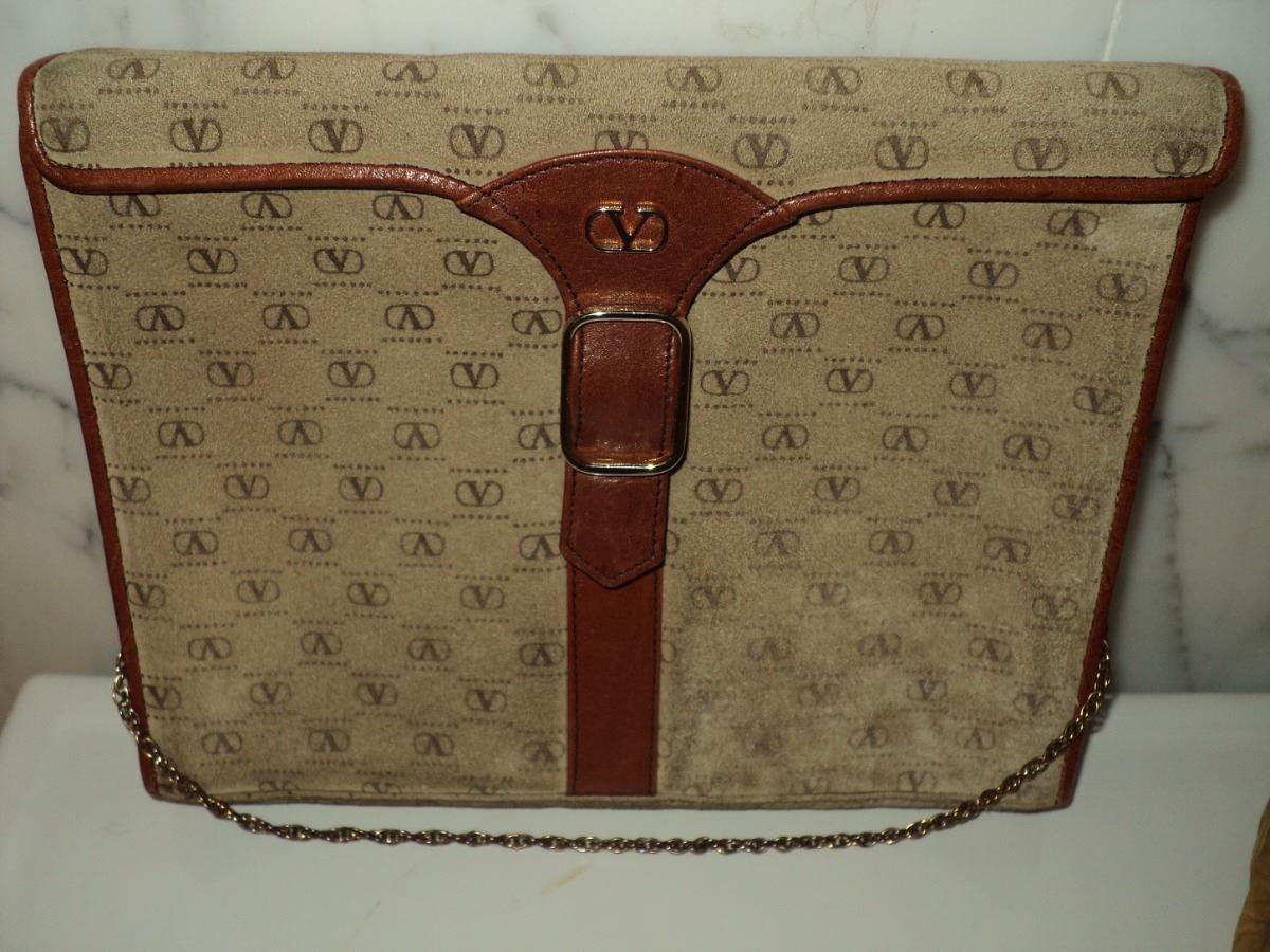 db1d886a079c Image 1 : Valentino 1970 Monogram Leather/Suede Handbag Chain ...