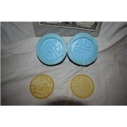 HELLBOY BPRD MOLDS THAT MADE THE LOGO PATCHES LOT OF 2?