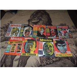 Z-CLEARANCE FAMOUS MONSTERS OF FILMLAND 64-83 YEARBOOKS LOT OF 9