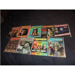 Z-CLEARANCE FAMOUS MONSTERS OF FILMLAND 80 - 89 LOT OF 9