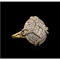 14KT Yellow Gold 1.84 ctw Diamond Ring