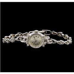 Bulova 14KT White Gold 0.15 ctw Diamond Ladies Watch