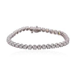 14KT White Gold 4.05 ctw Diamond Tennis Bracelet