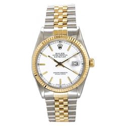 Preowned Rolex Datejust 16233 with White Dial