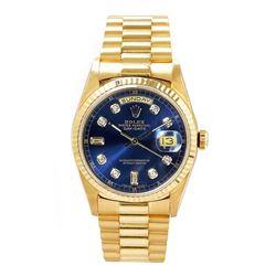 Rolex Men's President YG Custom Diamond Dial
