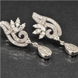 Sterling and Cubic Zirconia Earrings