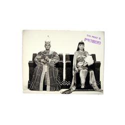 The Ten Commandments Yul Brenner And Anne Baxter Original Rare Studio Photograph