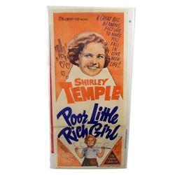 Poor Little Rich Girl Shirley Temple Rare Original Aussie Insert Poster