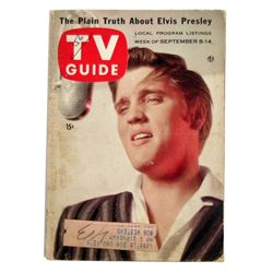 TV Guide With Elvis Presley On The Cover September 1956