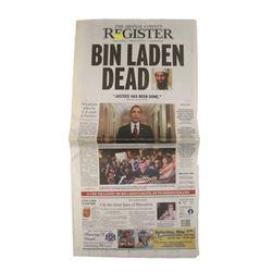 Orange County Register Bin Laden Dead Newspaper