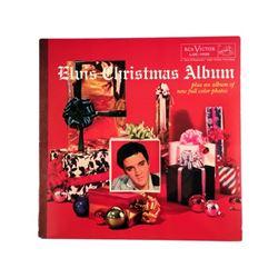 Elvis Presley Christmas Album Red Vinyl with Photo Album