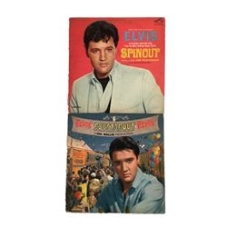 Elvis Presley Lot of Two 1960s Soundtrack Record Albums Roustabout  and Spinout