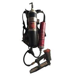 Resident Evil 6 Dr. Isaacs (Iain Glen) Nail Gun with Tank Movie Props