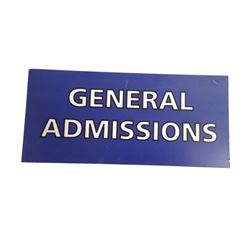 Resident Evil 6 Screen Used General Admissions Sign Movie Props