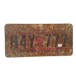 Resident Evil: The Final Chapter  Screen Used License Plate Movie Props