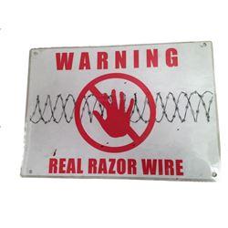 Resident Evil 6 Warning Sign Movie Props