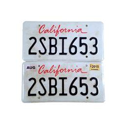 The Age of Adaline William Jones (Harrison Ford) License Plates Movie Props