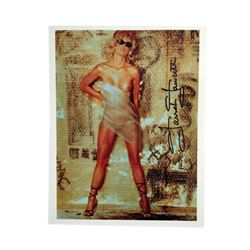 """Farrah Fawcett Nude Signed Color 8x10 Photo From Playboy's All of Me  """"Bubblewrap"""""""