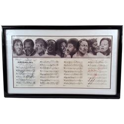 We are the World 1985 Signed Music Sheet & Artwork