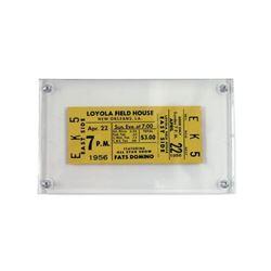Fats Domino 1956 Concert Ticket