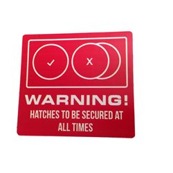 Resident Evil The Final Chapter Warning Sticker Movie Props