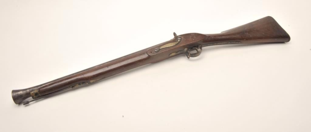 Percussion Blunderbuss constructed from British parts showing G R