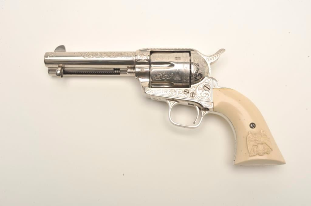 Engraved Cimarron (by Uberti) SAA revolver,  45 Colt caliber, 4 75