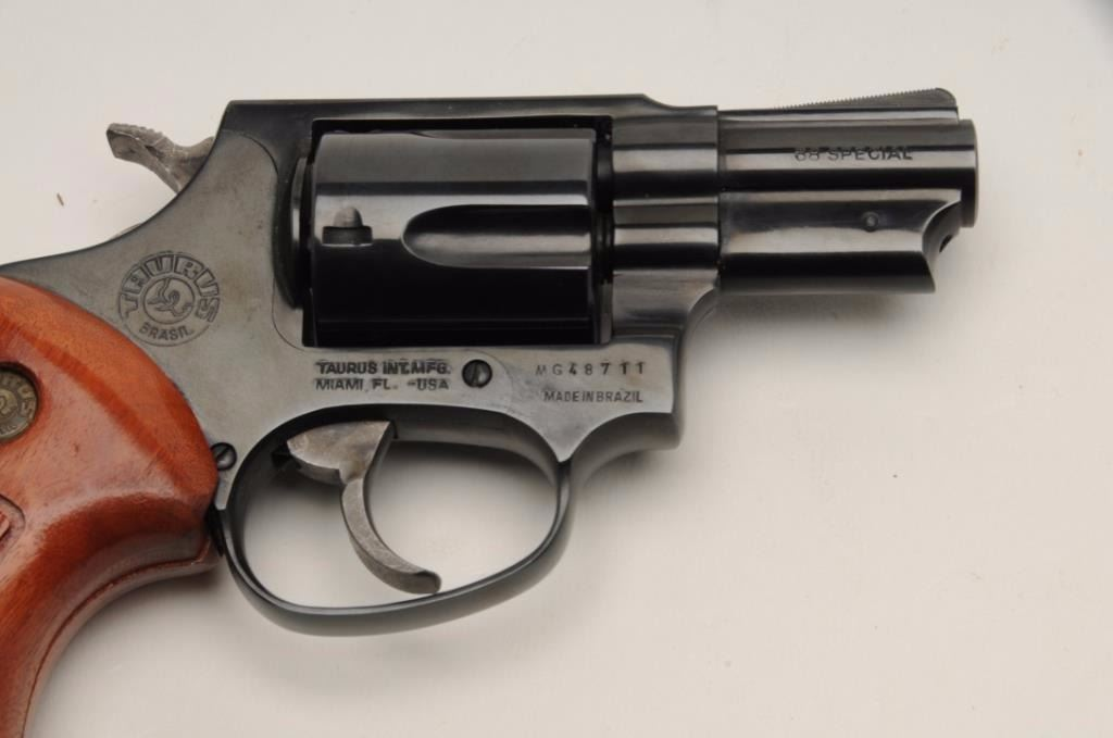Taurus Model 85 revolver,  38 Special caliber, serial #MG48711  The