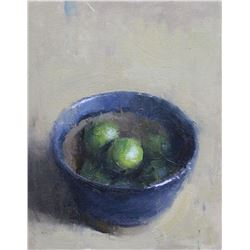 """Key Limes and Handmade Bowl"" by Brian Astle"